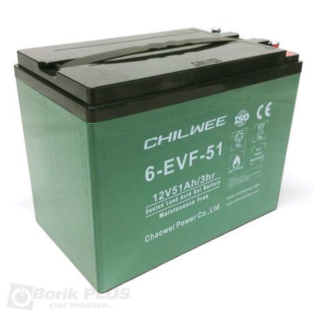 6 EVF 51 Olovna VRLA baterija 12V 51Ah / 3 HR