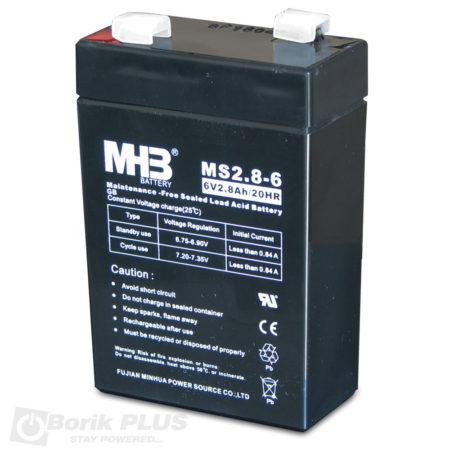 MS 2.8-6 Olovna VRLA baterija 6V 2.8Ah