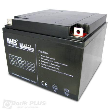 MS 26-12 Olovna VRLA baterija 12V 26Ah