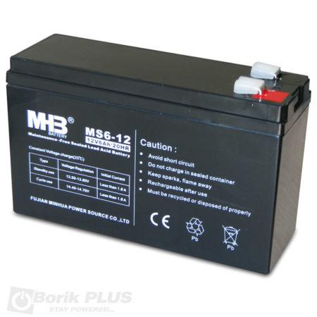 MS 6-12 Olovna VRLA baterija 12V 6Ah - slim