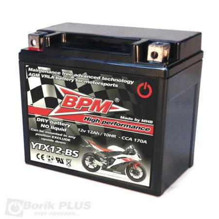 BPM Olovna AGM VRLA baterija YTX12-BS
