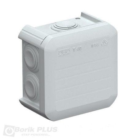 Plastična OBO kutija 75x75 mm-IP 55 Siva