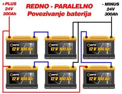 Redno i paralelno povezivanje baterija