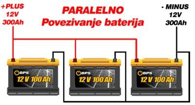 Paralelno povezivanje baterija