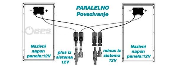 Paralelno povezivanje soalarnih panela