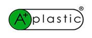 A plastic logo