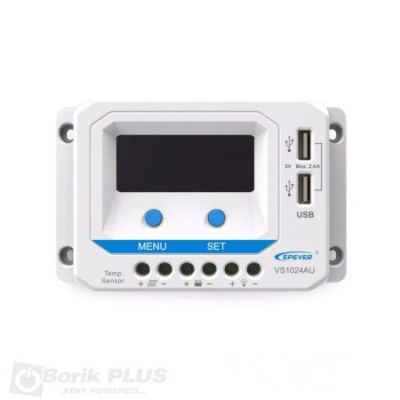 Kontroler punjenja solarnog sistema 10A, 12/24V VS1024AU LCD
