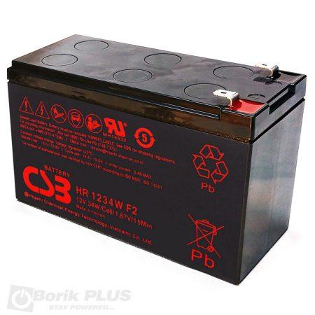 HR1234W  Olovna VRLA baterija 12V 9Ah-High Rate